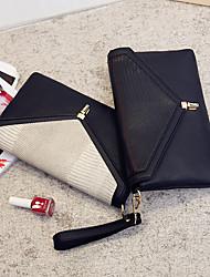 Damen PU Alltag Unterarmtaschen / Abendtasche Weiß / Schwarz