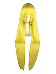 Pelucas de Cosplay Sailor Moon Sailor Moon Amarillo Largo Animé Pelucas de Cosplay 100 CM Fibra resistente al calor Hombre / Mujer
