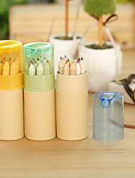 Cute Cartoon Rabbit Girl Colored Pencil Cartoon Drum With Pencil Sharpener