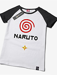 Inspired by Naruto Naruto Uzumaki Anime Cosplay Costumes Cosplay Tops/Bottoms Print White Short Sleeve T-shirt