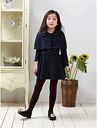 Girl's Casual/Daily Solid Dress / Clothing Set,Polyester Winter / Spring / Fall Blue / Red