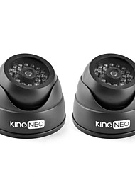 KingNEO KD102 IR Dummy Camera Simulated Surveillance Security Dome Camera 2pcs Black