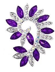 Bride Wedding Flower Rhinestone Brooches for Women Jewelry Accessories