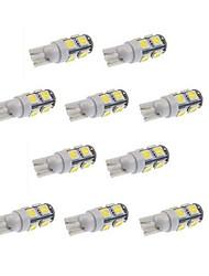 10pcs 9smd t10 5050 weiße Farbe DC 12V Auto-LED-Licht-Innenbirnen zwängen Lampe