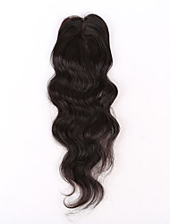 EVAWIGS Brazilian Virgin Hair Natural Colour Hair Pieces Silktop Lace Closure Natural Body Wave with Wrapping Closure