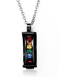 Necklace Pendant Necklaces / Pendants Jewelry Daily / Casual Fashionable Stainless Steel Black 1pc Gift