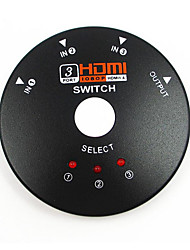 Three-Round HD HDMI Switcher 3 To 1 Shared Turn Into Adispenser 3*1