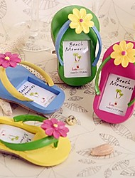 Recipient Gifts - 4Piece/Set - Summer Nautical Beach Theme Flip Flop Place Cards, Mini Photo Frame, Escort Cards