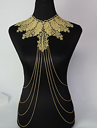 New Design Gold Plated Tassel Chain Ladies Female Body Chain Jewelry Christmas Gifts