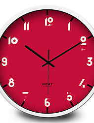 Simple Color Digital Metal Clock Electronic Wall Clock
