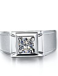 Ringe Herren Strass Silber / Platiert Silber / Platiert 4.0 / 5 / 6 / 7 / 8 / 8½ / 9 / 9½ Silber
