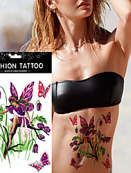 5pcs Waterproof  Beauty Girl Purple Butterfly Bee Sexy Body Art Tattoo Sticker Design Product