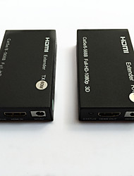 Slim HDMI Extender over UTP Single Cat5e/6 cable for 60Meter with Bi-Direction IR Control 3D 1080P Two Pair IR Cables