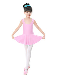 Ballet Dresses Children's Training Spandex Bow(s) 1 Piece Pink Sleeveless Natural Dress Kid's Dance Costumes