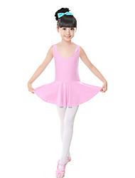 Ballet Dresses Children's Training Spandex Bow(s) 1 Piece Pink Sleeveless Natural Dress Kid's Dance Costumes