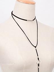 Women's Choker Necklaces Pendant Necklaces Flannelette Alloy Fashion Vintage Black Jewelry Party Daily Casual 1pc