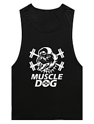 Men's Running Tank Tops Breathable Sports Wear Exercise & Fitness Racing Leisure Sports Running Loose White Red Black Blue
