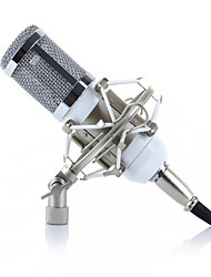 Condenser Microphone BM800 Sound Studio Recording Dynamic Mic + White Shock Mount +Cable + Windscreen