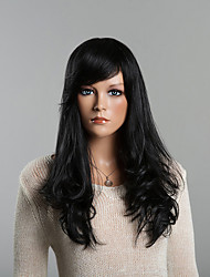 Elegant and Charming Long  Human Hair Wigs and Seven Color to Choose