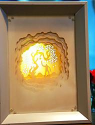 -nos ligar papel criativo liderado escultura 3d de decoração de Natal da noite fogos de artifício de luz