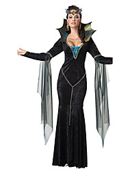Cosplay Costumes Vampire Movie Cosplay Black Solid Dress Halloween / Christmas / New Year Female Polyester