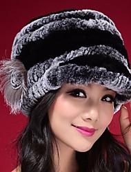 Women Rabbit Fur Floppy Hat,Cute Winter