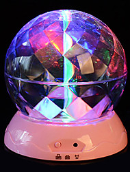 1pc Battery Rotate Stochastic Pattern  Night Light Lamp Domestic Projector Lamps   Crystal Ball Night-Light