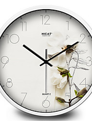 Garden White Orchid Living Room Decorative Silence Creative Quartz Wall Clock