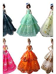 Muñeca Barbie - Multicolor - Corte Princesa - Organza - Vestidos - Vestidos