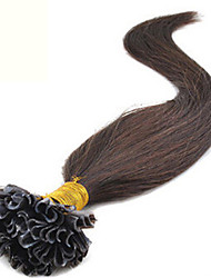 "Brazilian Virgin Pre-bonded Hair Keratin Nail Hair U Shape Hair Extensions 18""-28"" 1G/S 100G/PC 1Pc/Lot In Stock"