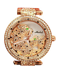 Women's Luxury Fashion Crystal Leopard Steel Band Quartz Watch