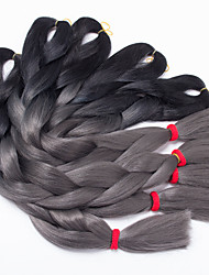 Ombre 1B/Gray Color Box Braids Hair Synthetic Hair Braiding Hair Extensions