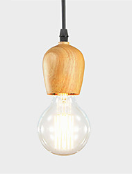 Vintage American Style Single Head Wood Pendant Light Lamps For Home,Restaurant,Cafe ,Loft ,Game Room,Garage