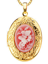 Vintage Oval Locket Pendants Jewelry 18k Gold Plated Put in Solid Perfume or Pictures Necklace Pendant P30028