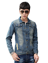 2016 youth popular youth new denim jacket lapel washing routine jacket men clothes coat jacket