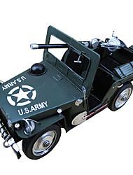 Vintage World War II, The United States Willis Handmade Metal Military Model Bar Home Decoration Gift