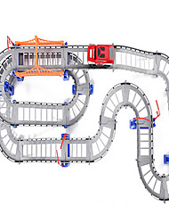 двойной трек электрический автомобиль игрушки детей головоломка дорожки автомобиля общий набор мобилизация
