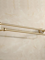 Antique Countryside Golden Double Rod Towel Bar