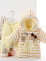 Crystal velvet autumn and winter baby cotton thick warm jacket infant out clothes piece suit 1-2 years