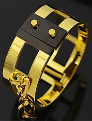 Pulseiras Bracelete Aço Titânio Forma Redonda Fashion Diário / Casual Jóias Dom Dourado / Prateado / Ouro Rose,1pç
