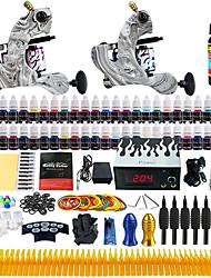 Solong Tattoo Beginner Tattoo Kit 2 Pro Machine Guns Power Supply Needle Grips Tips US Dispatch