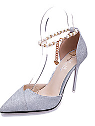 Women's Shoes Leatherette Summer Heels Sandals Office & Career / Party & Evening / Casual Stiletto HeelCrystal