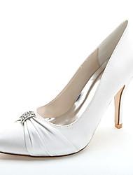 Women's Wedding Shoes Formal Shoes Satin Spring Summer Wedding Party & Evening Rhinestone Stiletto HeelIvory Champagne Royal Blue