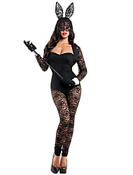 Lace BUNNY RABBIT Party Costume Outfit Women's Sexy Lingerie Bodysuit stripper