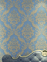 Luxury Modern 3D Damask Living Roon Bedroon Wallpaper Sparkle Flocking Murals of Wall Paper Roll