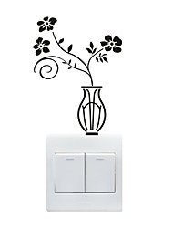 AYA™ DIY Wall Stickers Wall Decals, Vase Type PVC Switch Panel Stickers 11*15cm