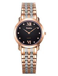 Bestdon® Fashion Stainless Steel Water Resistant Rhinestone Simple Design Vintage Lady/Women's Wristwatch