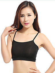Demi-cup Bras,Double Strap / Wireless Cotton / Spandex / Modal