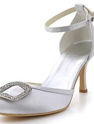 Women's Shoes Silk Stiletto Heel Heels / Round Toe Heels Wedding / Party & Evening / DressBlack / Blue / Yellow / Pink