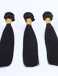 EVAWIGS 3 Pieces Lot Brazilian Virgin Hair Straight Human Hair Weaves Unprocessed Brazilian Hair Extension